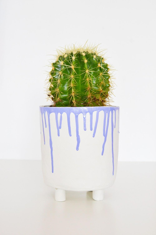 DIY drippy clay planter