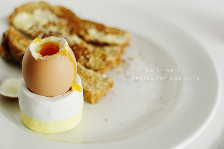 DIY circle clay egg cups with pastel decor (via fallfordiy.com)