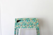 DIY Selje nightstand hack with floral fabric