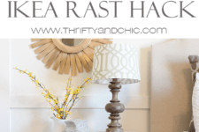 DIY Ikea Rast dresser with cute handles and a wooden finish