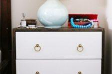 DIY modern Ikea Rast hack in white