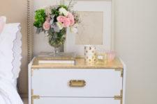 DIY glam gilded Ikea Rast hack
