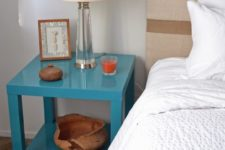 DIy Ikea Lack table hack into a bedside table
