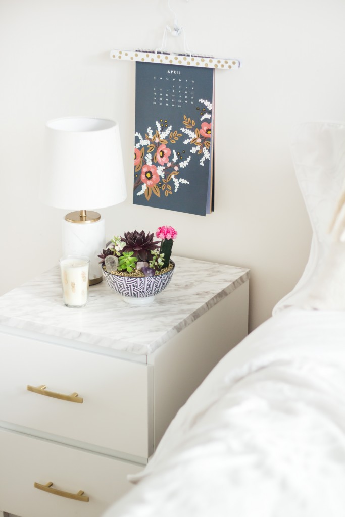 DIY Ikea Malm end table hack (via www.theblondielocks.com)