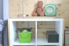 DIY Ikea Kallax shelf hack into a nightstand