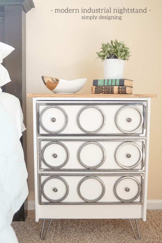 DIY Ikea Rast hack into a nightstand (via simplydesigning.porch.com)