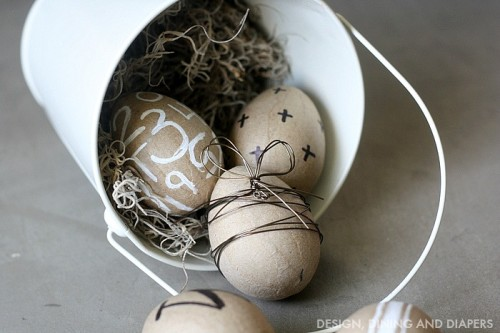 DIY paper mache Easter eggs (via www.shelterness.com)