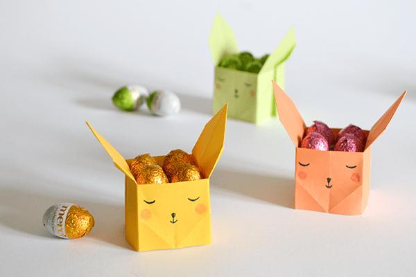 DIY origami Easter bunny candy boxes (via kdesignpapier.blogspot.ru)