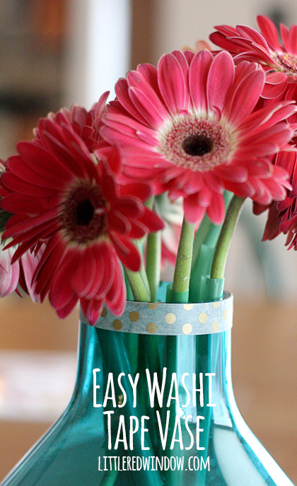 DIY washi tape vases for spring (via littleredwindow.com)
