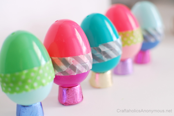 DIY washi tape plastic Easter eggs (via www.craftaholicsanonymous.net)