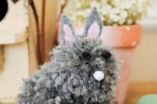 DIY baby pompom bunny