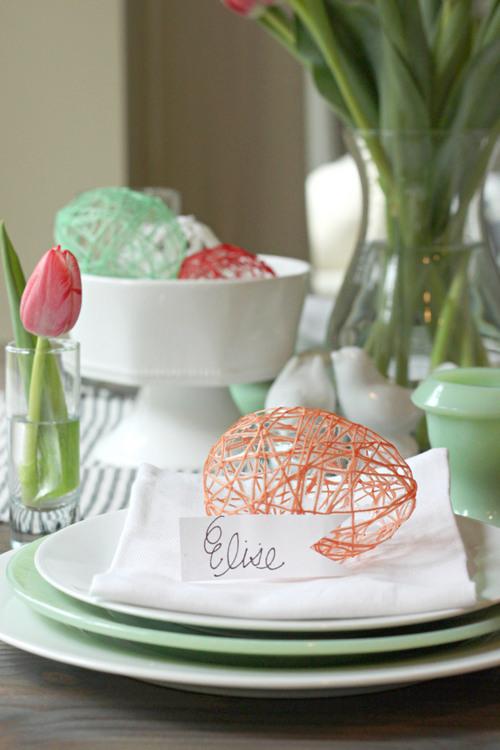 DIY hollow string eggs for Easter (via thinkcrafts.com)