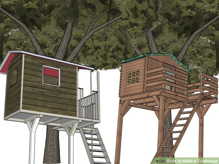 How to build a tree house (via www.wikihow.com)
