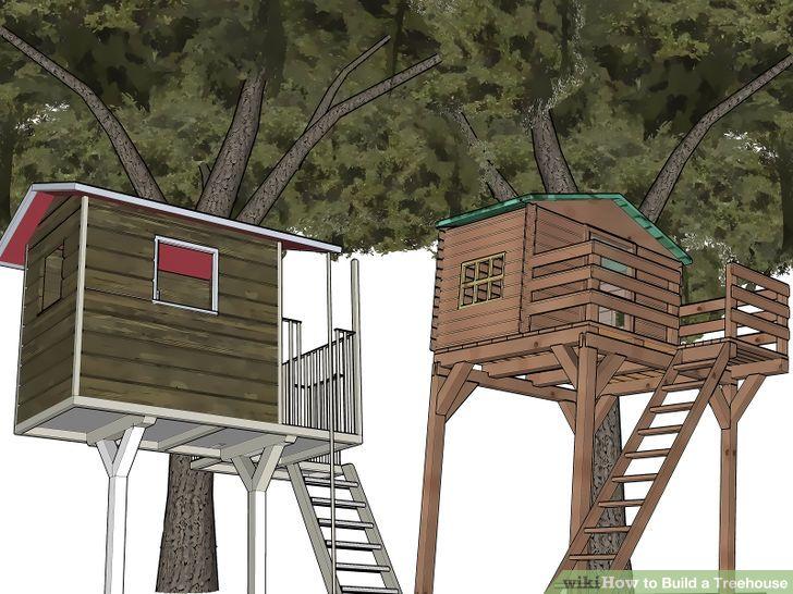 How to build a tree house (via www.wikihow.com)