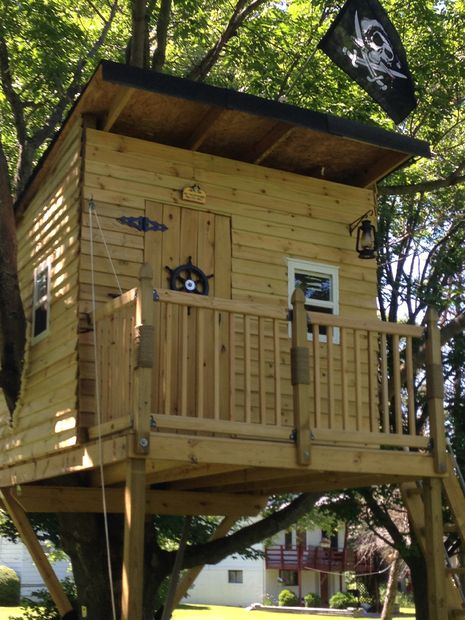 9 diy tree houses with free plans to excite your kids for Tree house blueprint maker