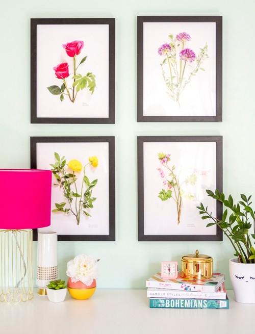 Popular DIY botanical art work via shelterness