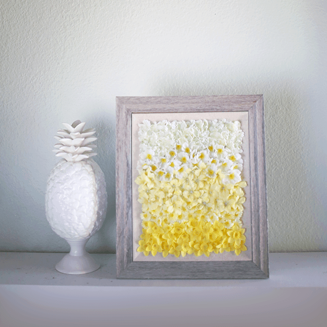 DIY ombre floral wall art (via www.shelterness.com)