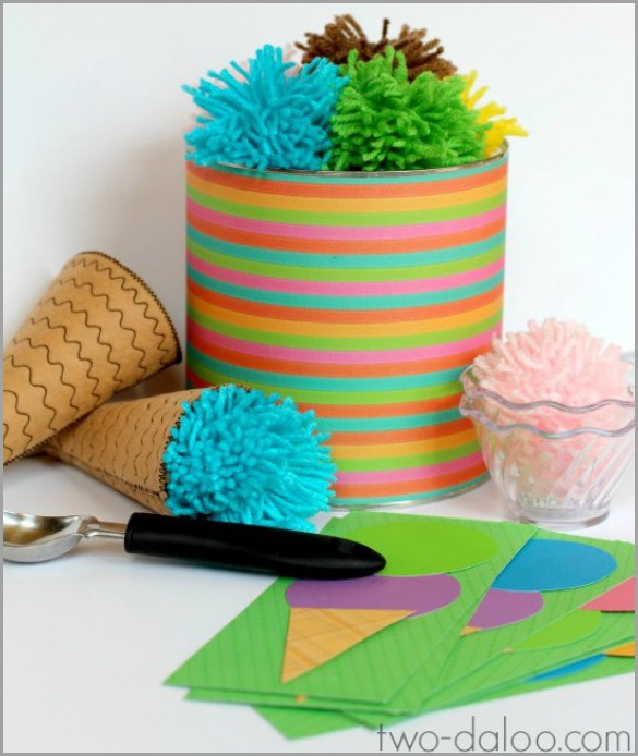 DIY yarn ice cream set (via www.two-daloo.com)