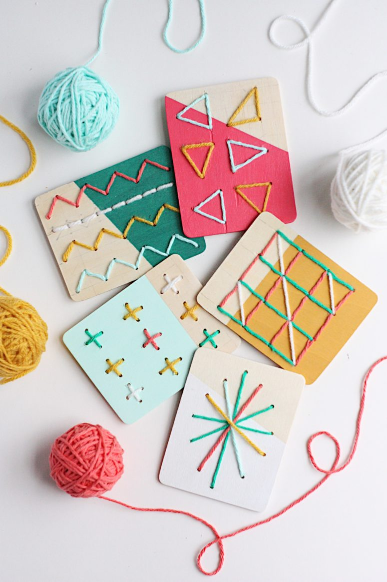 DIY dipped stitching boards for kids (via prettylifegirls.com)