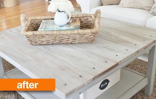 DIY Ikea Lack table farmhouse hack (via www.apartmenttherapy.com)
