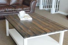 DIY farmhouse Ikea Hemnes table hack
