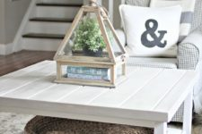 DIY Ikea Hemnes table hack into a farmhouse meets coastal piece