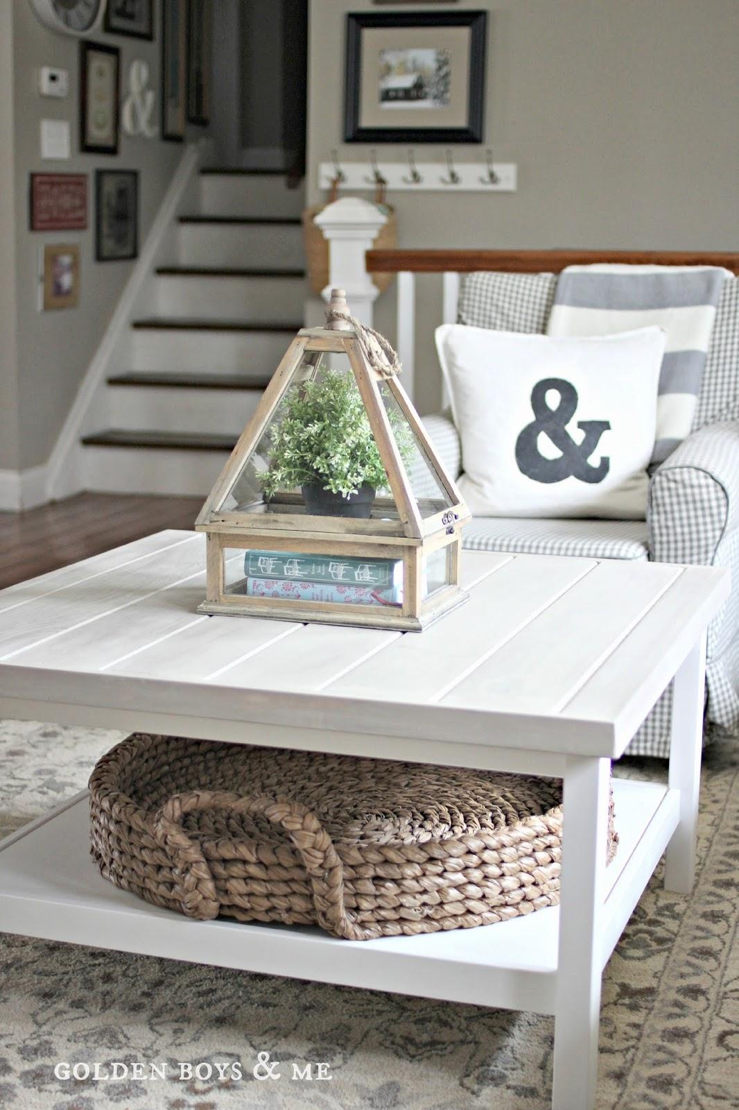 DIY Ikea Hemnes table hack into a farmhouse meets coastal piece