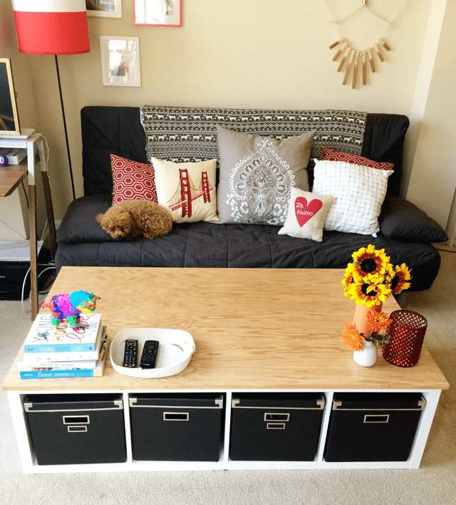 10 easy and cute diy coffee tables from ikea items - shelterness