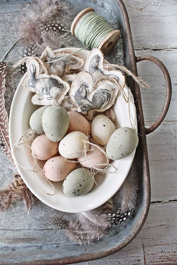 soft pastel speckled eggs look awesome