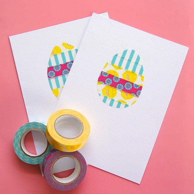 DIY washi tape Easter egg card