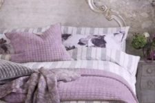 03 silver grey and lavender touches for a girlish French country bedroom