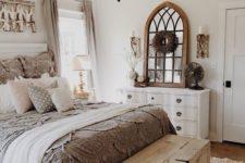 neutral shabby bedroom