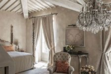 05 light grey room with whitewashed wooden beams and furniture, plaster walls add texture too