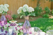 07 this tablescape is infused with purple touches and looks modern and refreshing