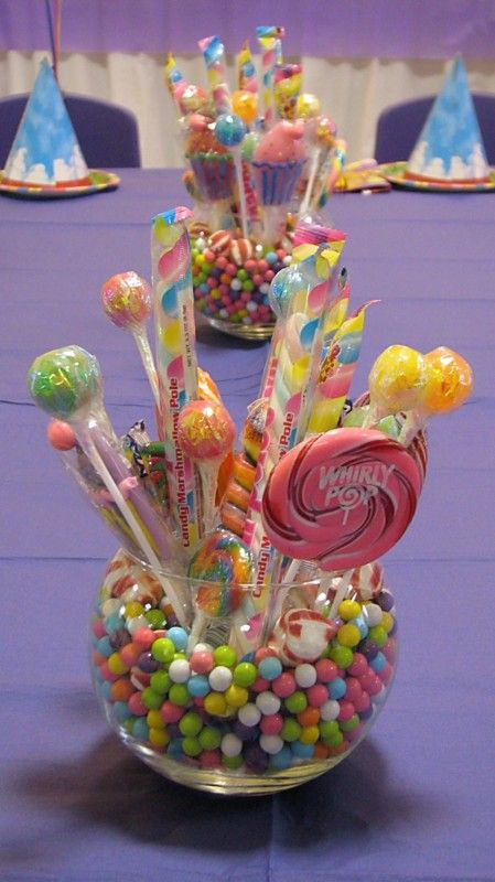 18 Yummy Candy Centerpieces For Kids Parties Shelterness