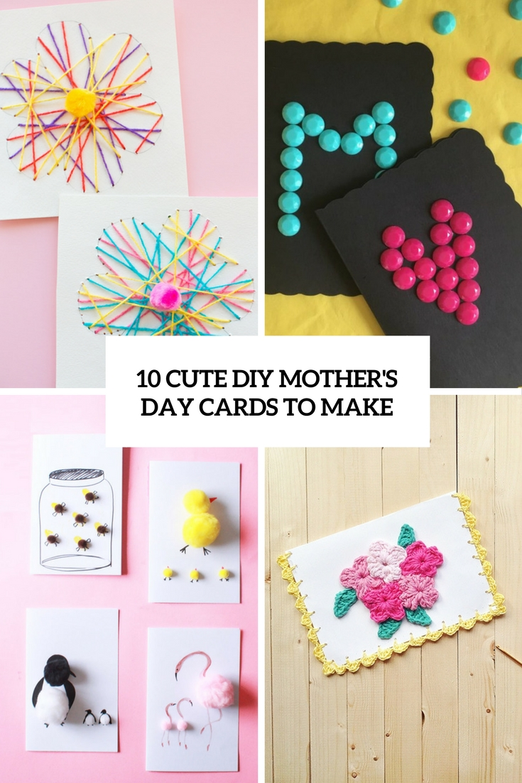cute diy mother's day cards to make cover