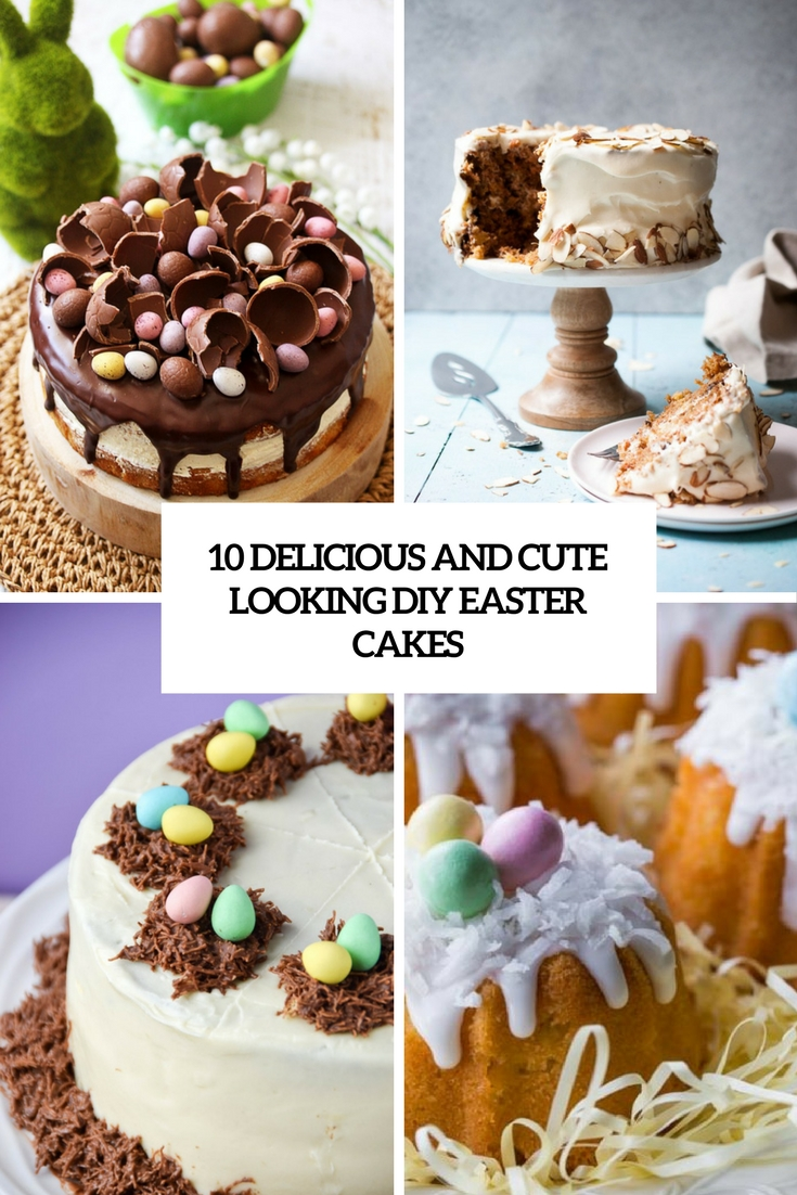 delicious and cute looking diy esster cakes cover