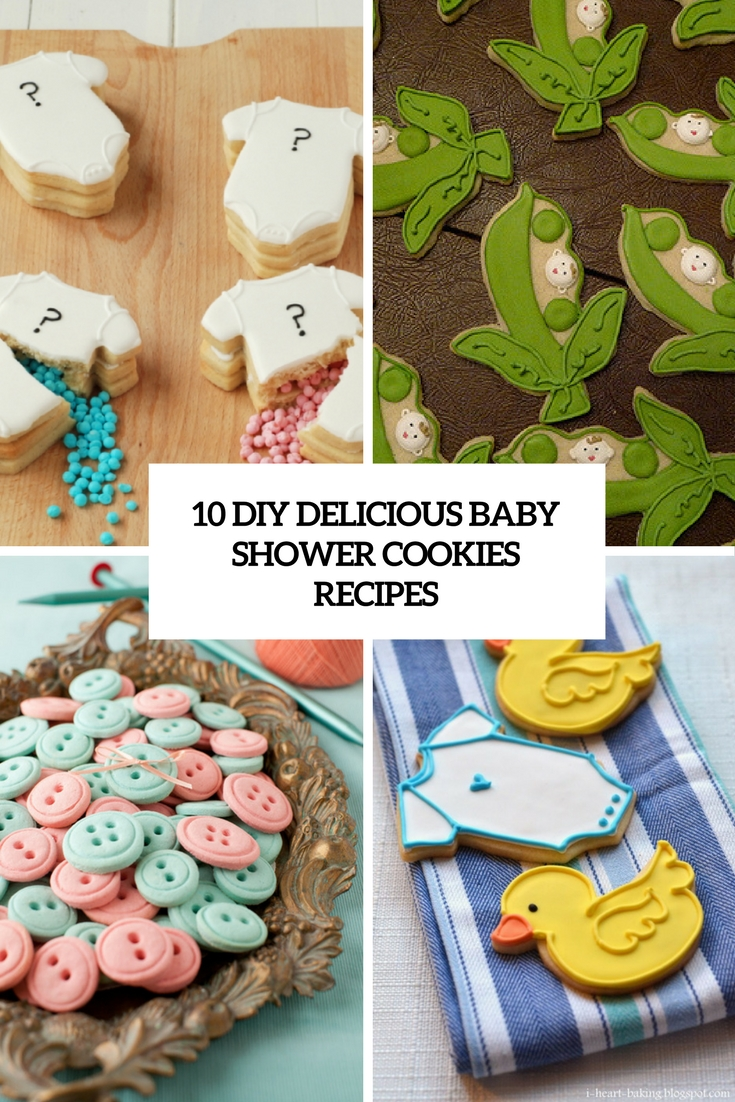 diy delicious baby shower cookies recipes cover