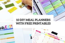 10 easy diy meal planners with free printables cover