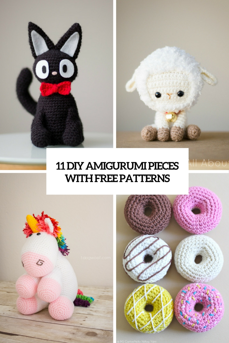 11 DIY Amigurumi Pieces With Free Patterns