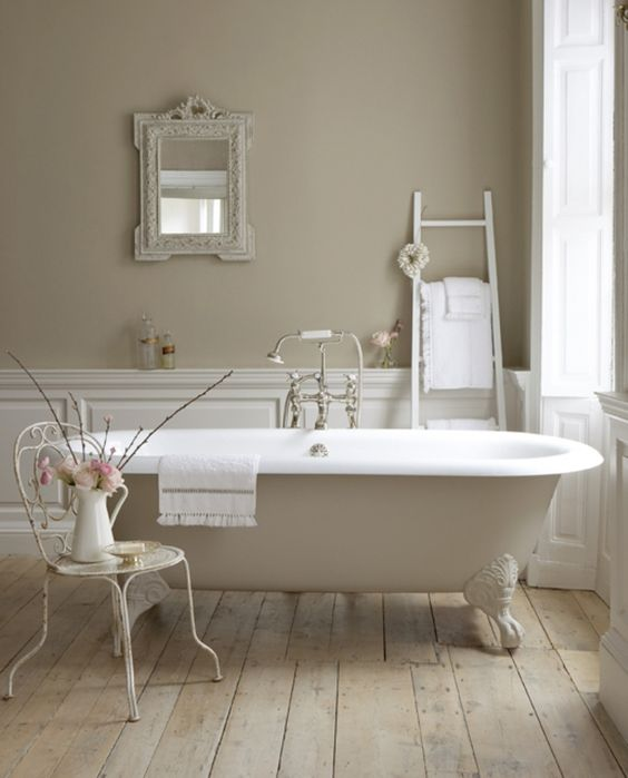 buttermilk-colored clawfoot bathtub is right what you need