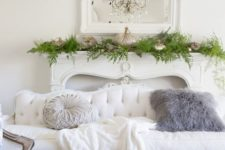 13 a refined white sofa looks cool with a shabby chic blue bench