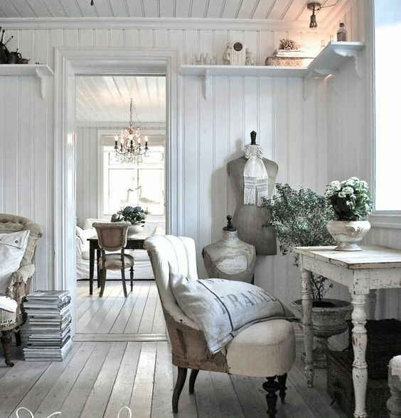 shabby chic furniture is a perfect choice for a French style home office