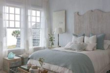 15 shabby metal and reclaimed wood, textiles give an interest to the space