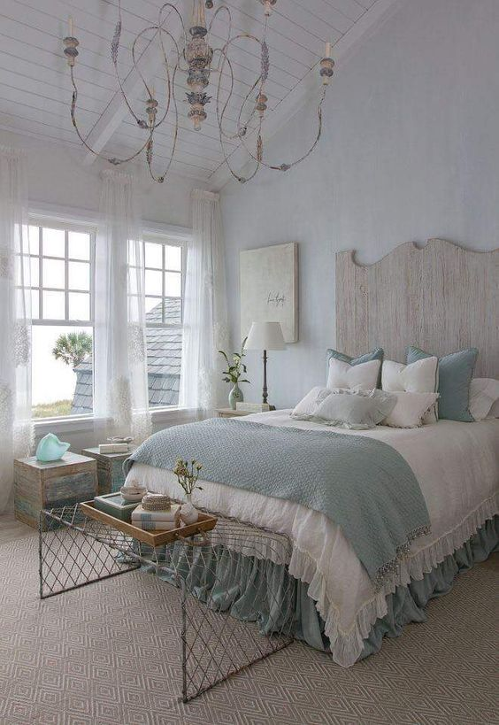shabby metal and reclaimed wood, textiles give an interest to the space