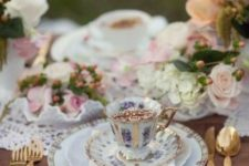 17 use vintage dishes and cups for a refined tablescape