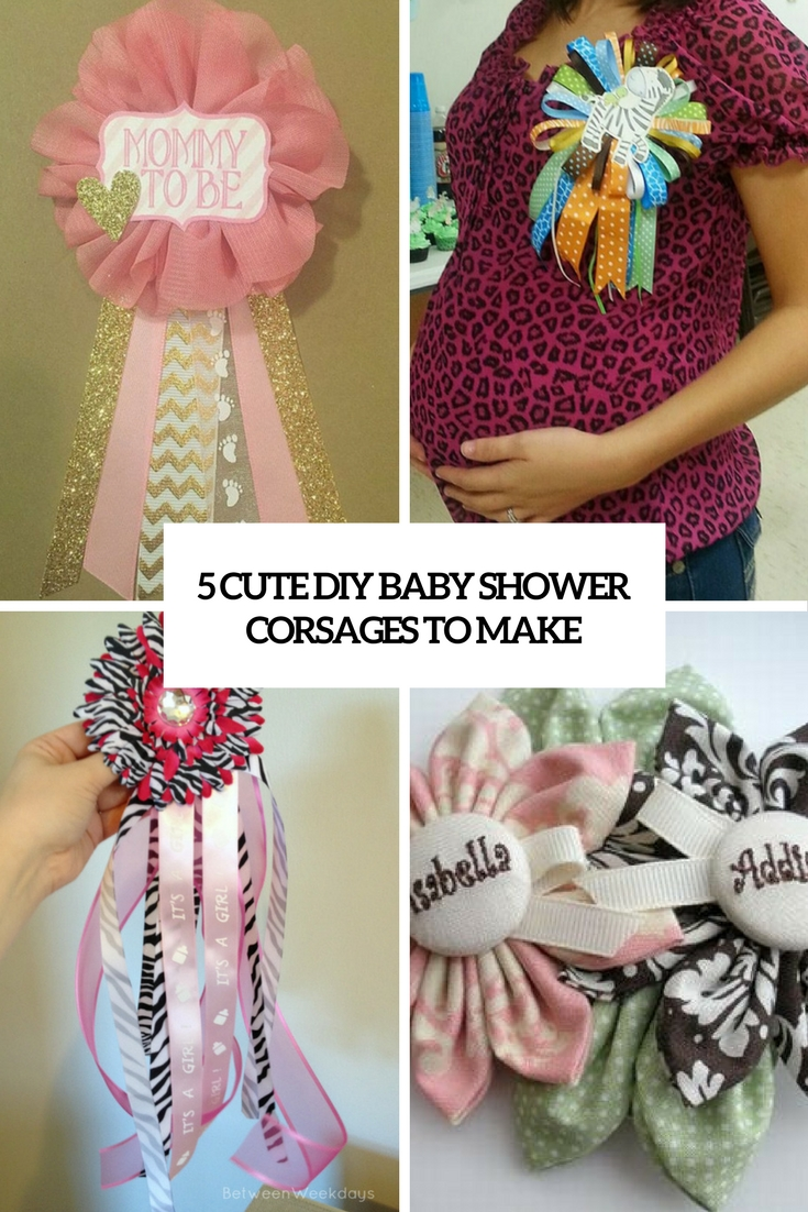 5 cute diy baby shower corsages to make cover