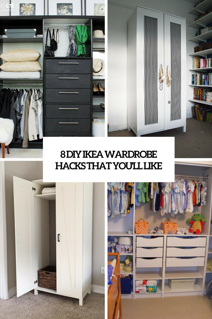 8 DIY IKEA Wardrobe Hacks That You'll Like