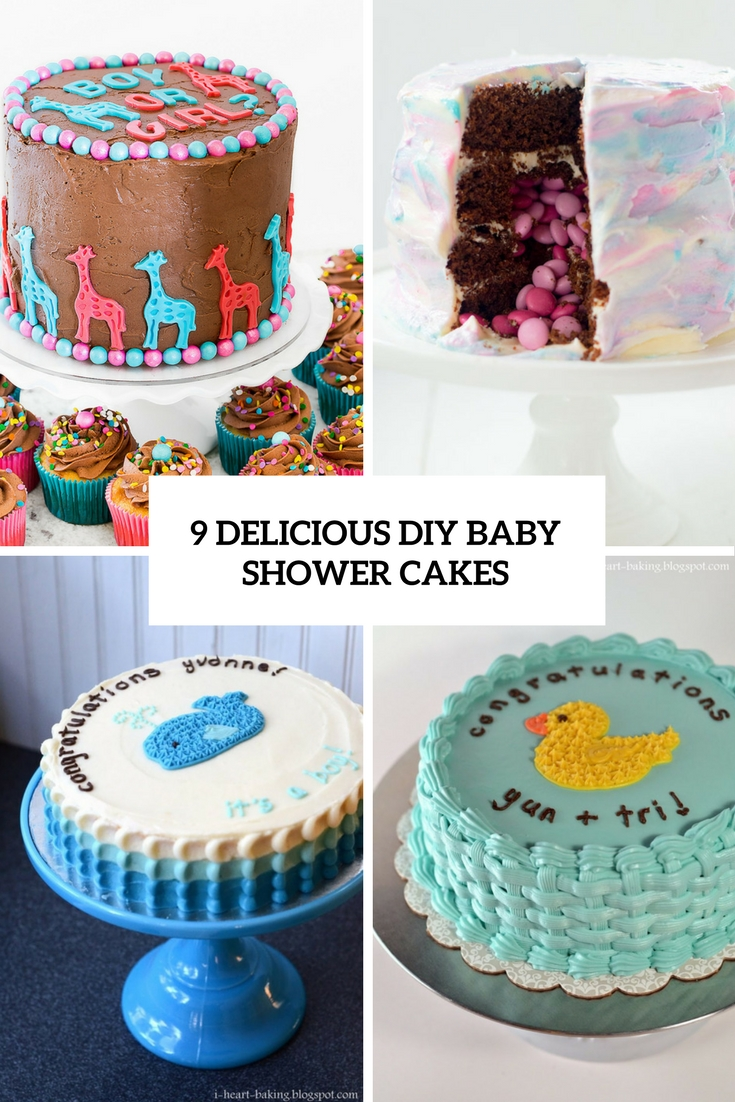 9 Delicious DIY Baby Shower Cakes