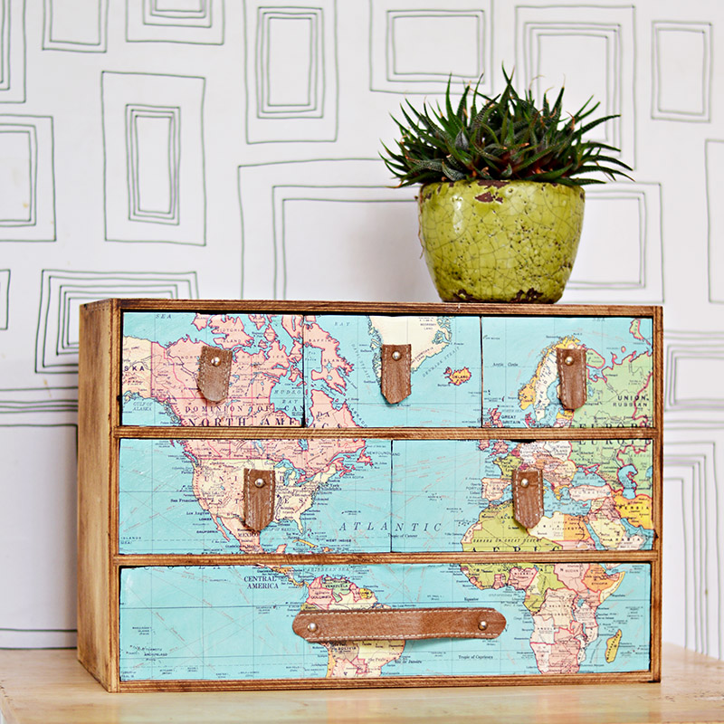 DIY Ikea Moppe hack with a map